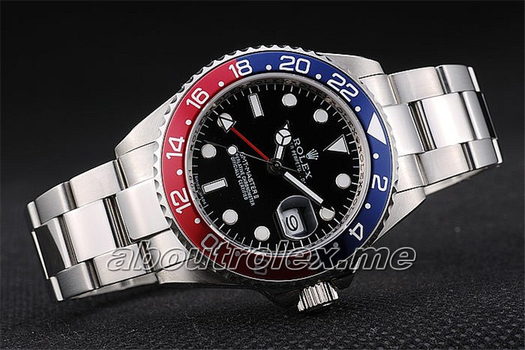 Rolex GMT Master II Replica Blue-red Ceramic Bezel Black Dial Tachymeter