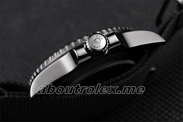 Rolex Swiss GMT Master II Replica Pro-Hunter Black Fabric Strap Black Dial