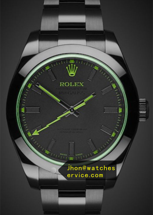 Green Pointer Replica Rolex Milgauss 116400 Watch