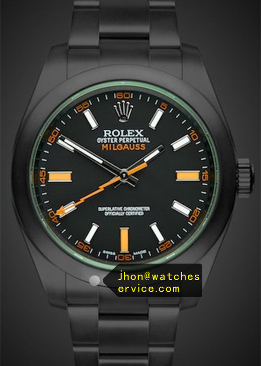 Replica Rolex Milgauss m116400gv-0001 Black PVD Watch