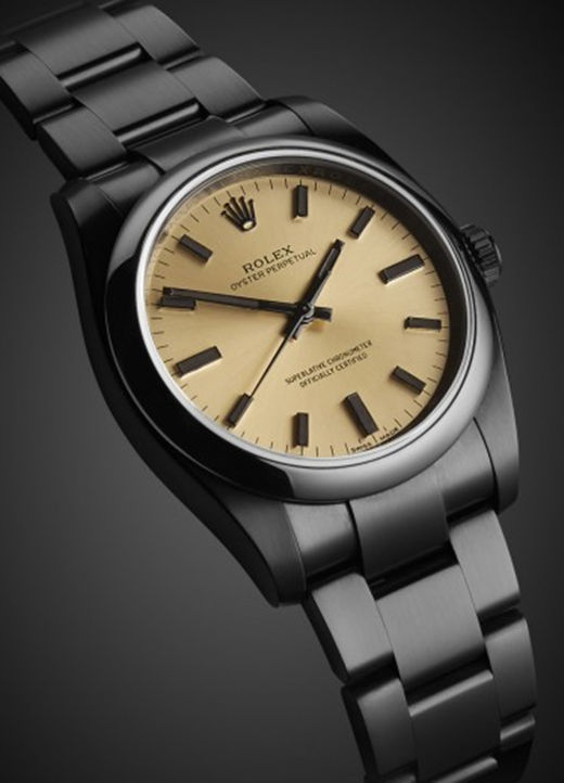 39MM Champagne Replica Rolex Oyster Perpetual m114300 Watch