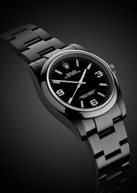 All Black Fake 36MM Rolex Oyster Perpetual 116000 Watch
