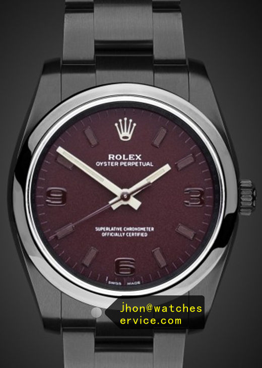 Deep Purple Fake 36MM Rolex Oyster Perpetual 116000 Watch