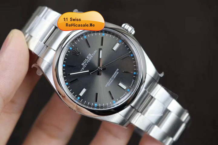 Fake Rolex Oyster Perpetual 114300 All Gray Swiss-Eta