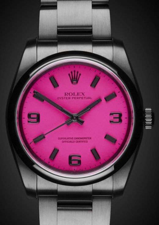 Fuchsia Fake 36MM Rolex Oyster Perpetual 116000 Watch