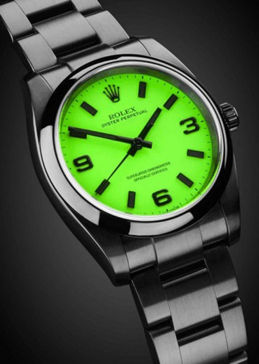 Grass Green Fake 36MM Rolex Oyster Perpetual 116000 Watch
