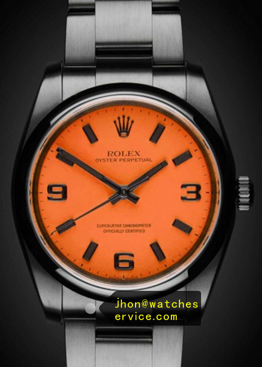 Orange Red Fake 36MM Rolex Oyster Perpetual 116000 Watch