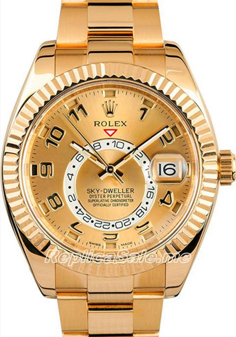 18K Roes Gold Rolex Sky-Dweller 326938-72418 Watch