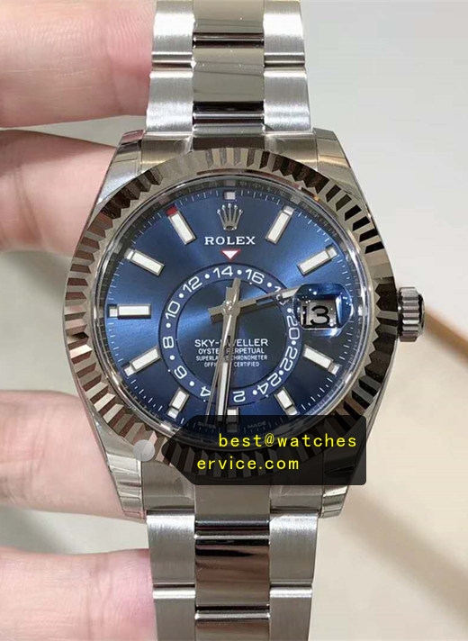 1:1 Blue Replica Rolex Sky Dweller m326934-0003 Watch