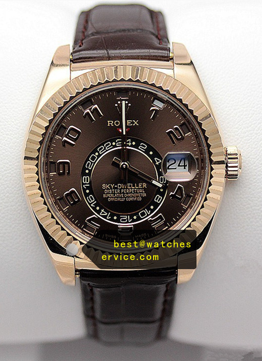 1:1 Dark Brown Replica Rolex Sky Dweller 326935 Watch