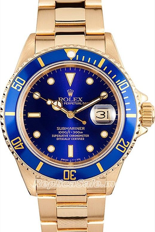 Replica Rolex Submariner 116618LB-97208 18K Gold