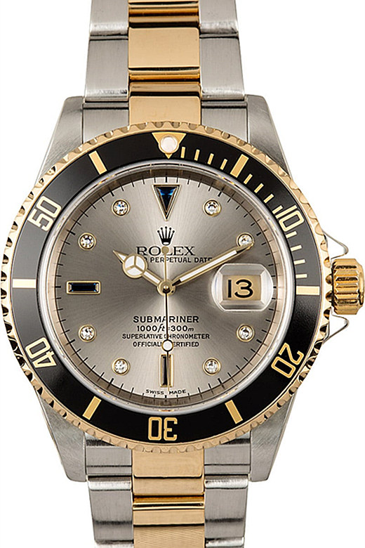 Rolex Submariner Gray Dial 16613T
