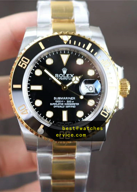 2019 Fake Rolex Submariner 116613LN Steel Inlaid Gold Watch
