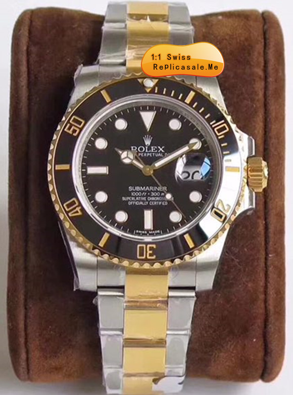 Black Face Rolex Submariner 116613LN-97203 18k-Gold With Steel 0818A