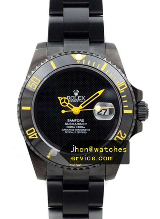 Fake Bamford Submariner Yellow Pointer Black Watch
