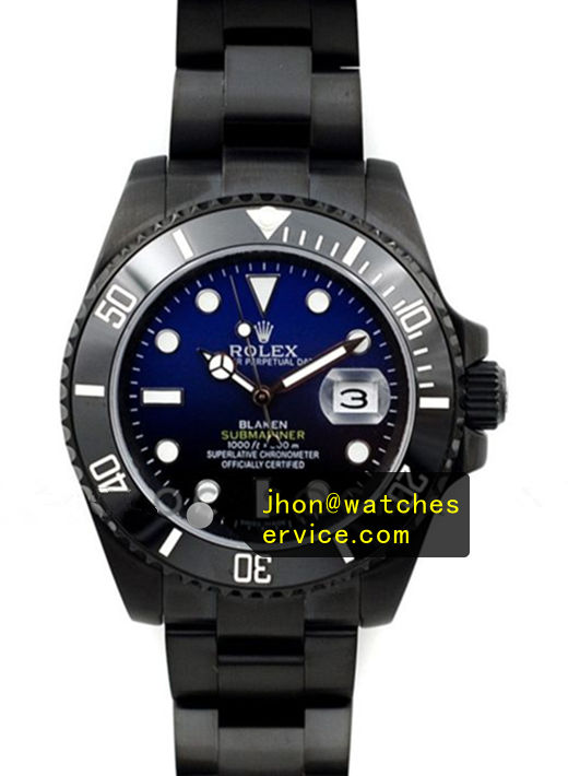 Fake Rolex Blaken Submariner Black PVD Watch