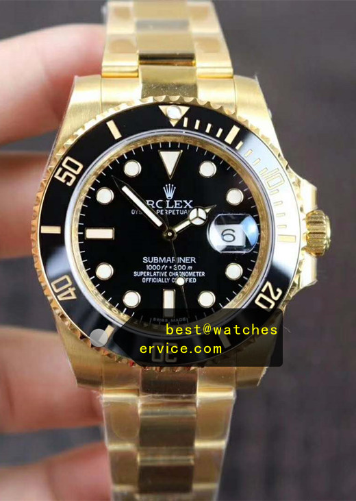 2019 Fake Rolex Submariner 116618LN Gold Watch