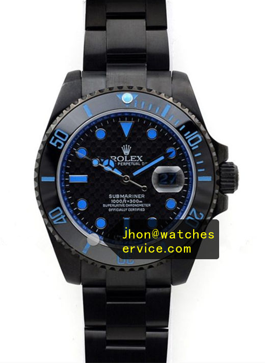 Fake Rolex Submariner Blue Text PVD Watch