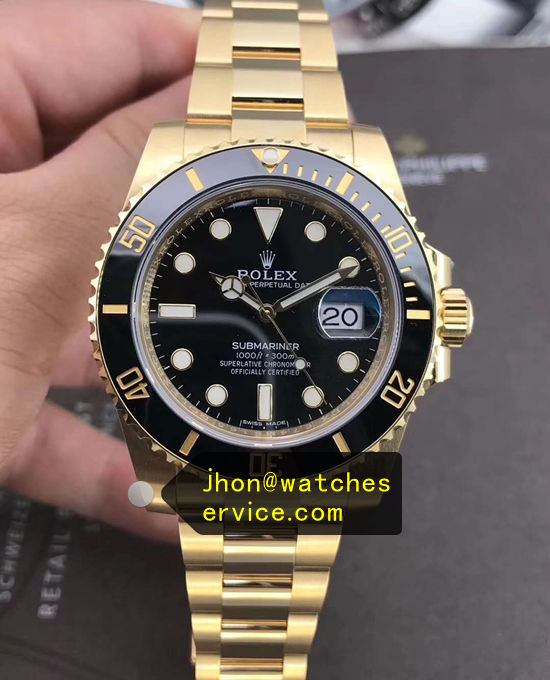 1:1 Gold Replica Rolex Submariner 116618LN