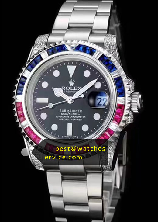 Rainbow Replica Submariner Steel Watch