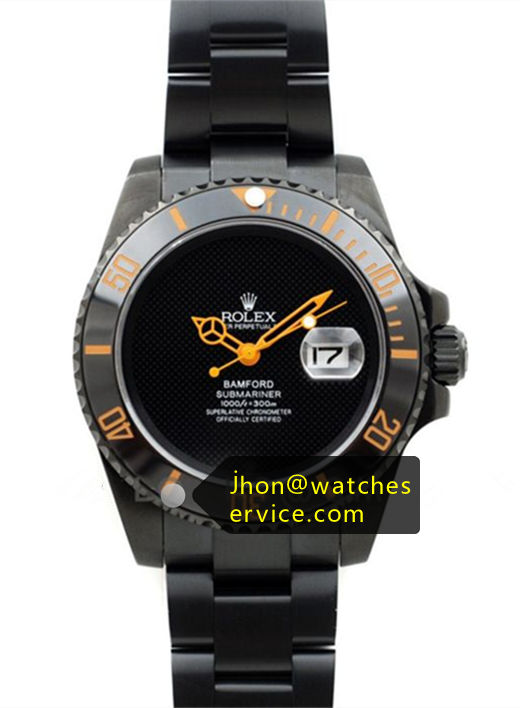 Replica Bamford Submariner Orange Pointer Black Watch