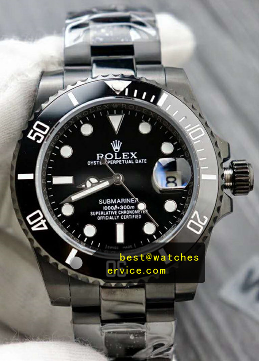 Replica Rolex Submariner All Black Steel Watch