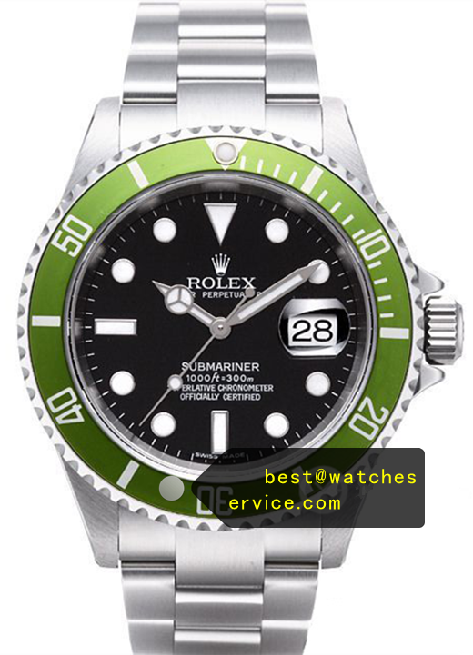 Replica Rolex Submariner Green Bezel Black Face Watch