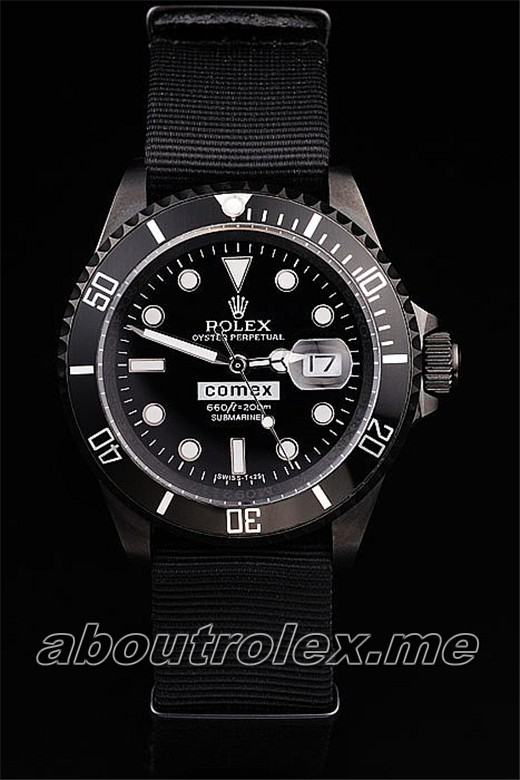 Rolex Submariner Comex Black Nylon Strap 029A