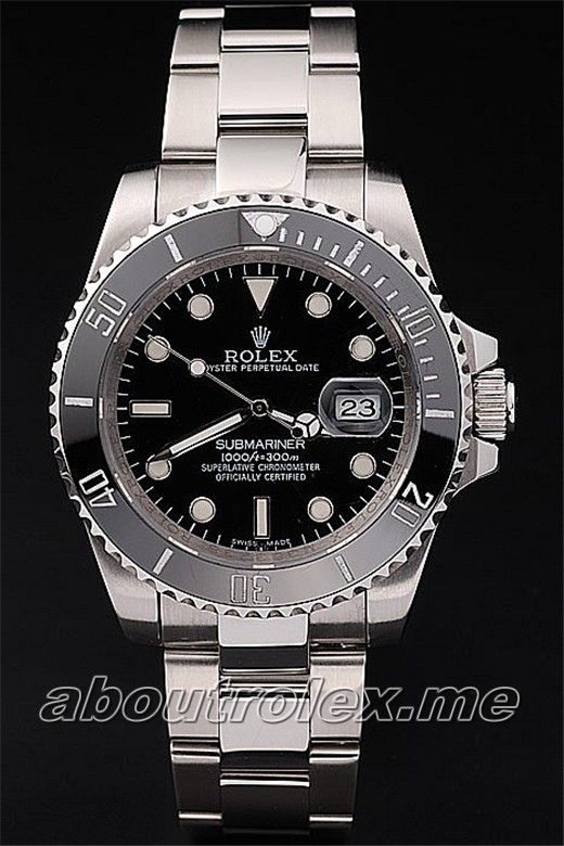 Perfect Replica Rolex Submariner Series 116610LN-97200 Black Plate