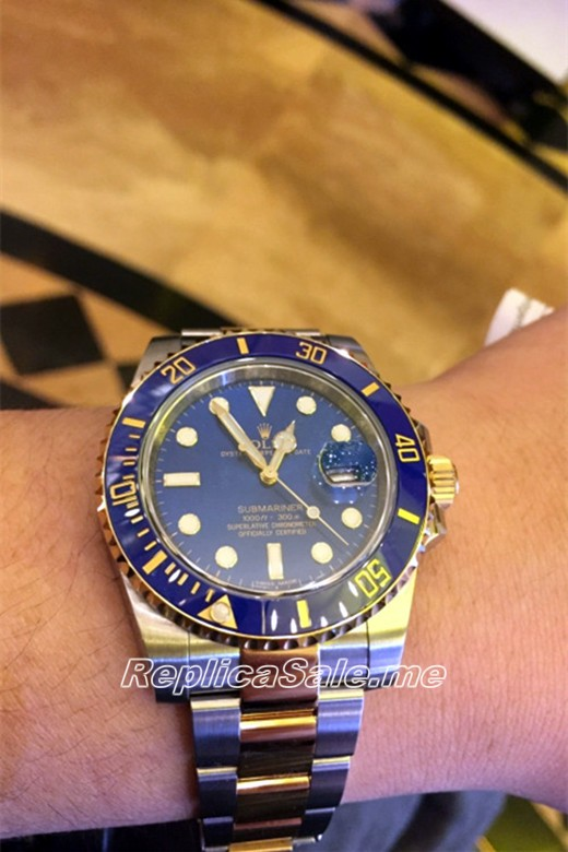 Men's Rolex Submariner Blue Plate 116613LB-97203