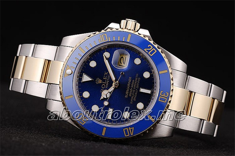 Men\'s Rolex Submariner Blue Plate 116613LB-97203