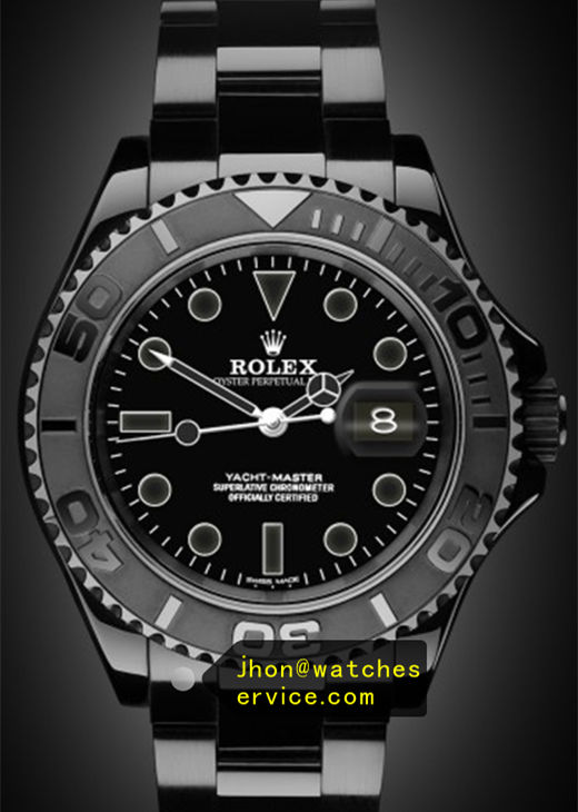 Fake Rolex Yacht-Master 116622 Black PVD Watch