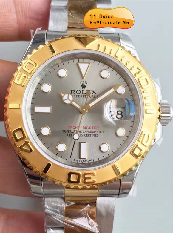 Fake Rolex Yachtmaster Gray Face Swiss-ETA 9765R