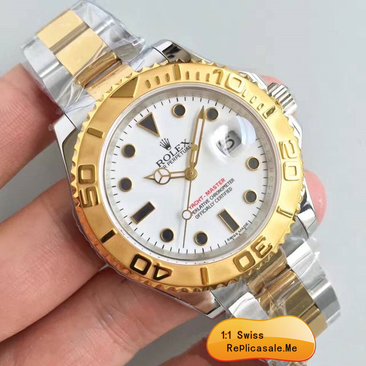 Fake Rolex Yachtmaster White Face With ETA-Movement 14027
