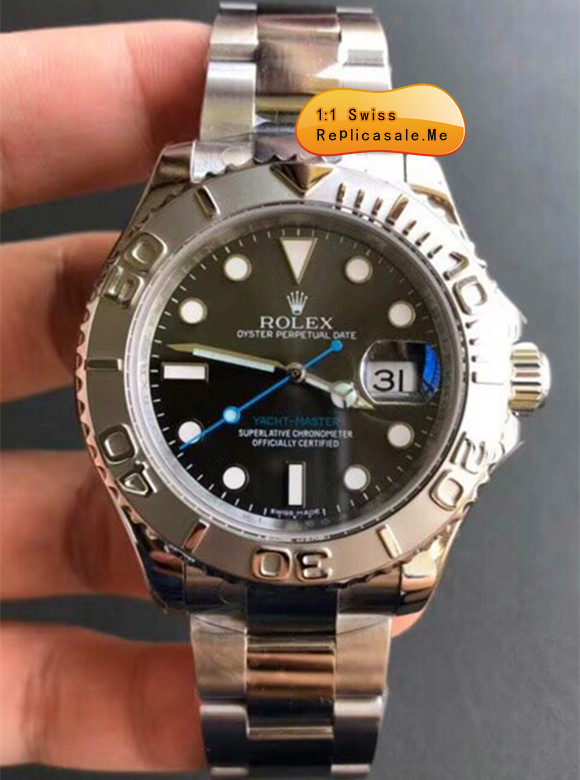 Swiss-ETA Replica Rolex Yachtmaster Blue Second Hand 3292