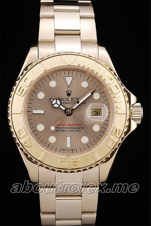 Rolex Yacht Master Replica Gold Tachymeter Gold Dial