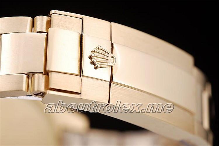 Mens Replica Rolex Yacht Master Gold Tachymeter Gold Dial