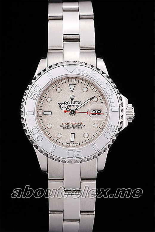 Rolex Yacht Master Replica Silver Tachymeter Beige Dial