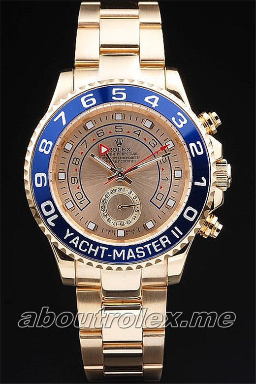Rolex Yacht-Master Replica II-rl243 Rose-gold plated case