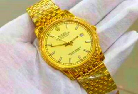 luxury 18K Gold Rolex DateJust 7085A Video