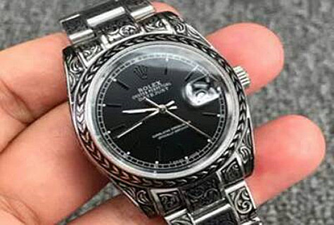 Black Skull Pattern Rolex Datejust Special Edition Video