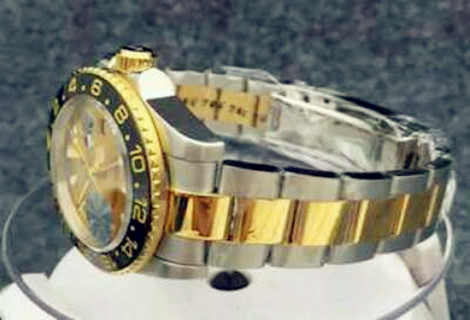 Rolex Gmt Master Gold Starp Black Bezel 08C Video